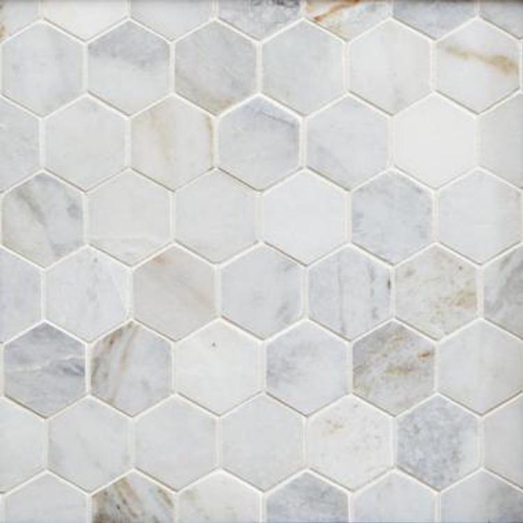Maravilla Bianco Orion Hexagon Polished Marble Mosai