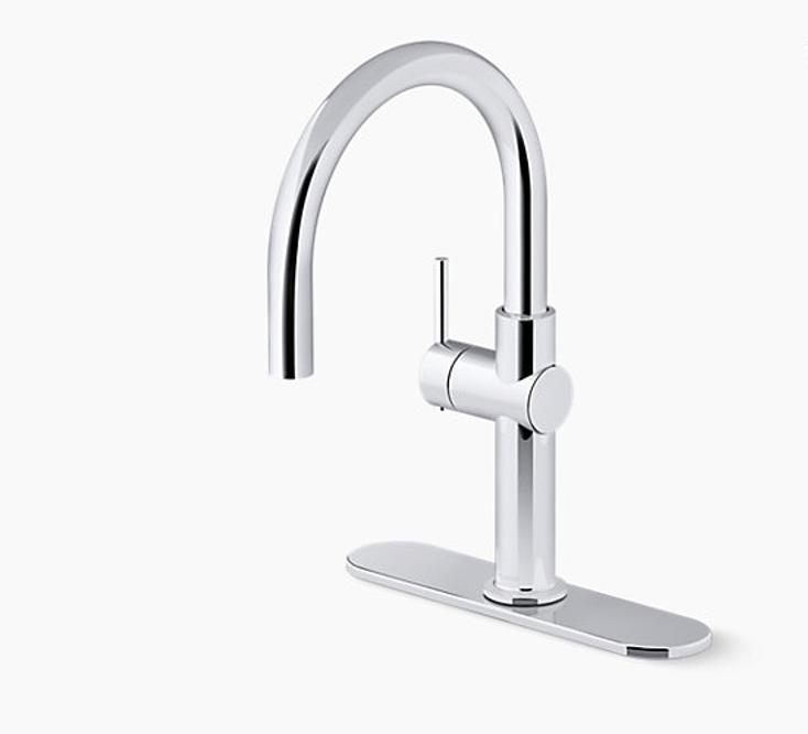 Single-handle bar sink faucet